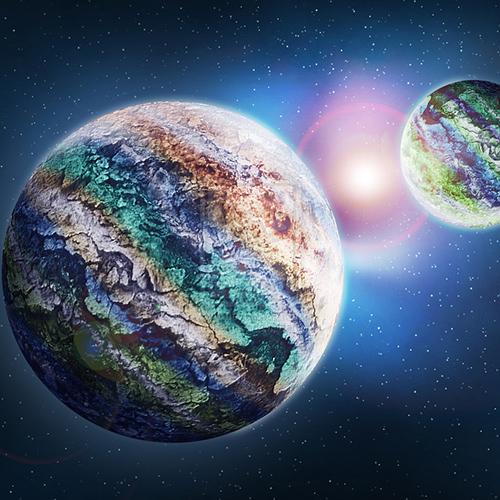 Bolygó az űrben digitális grafika